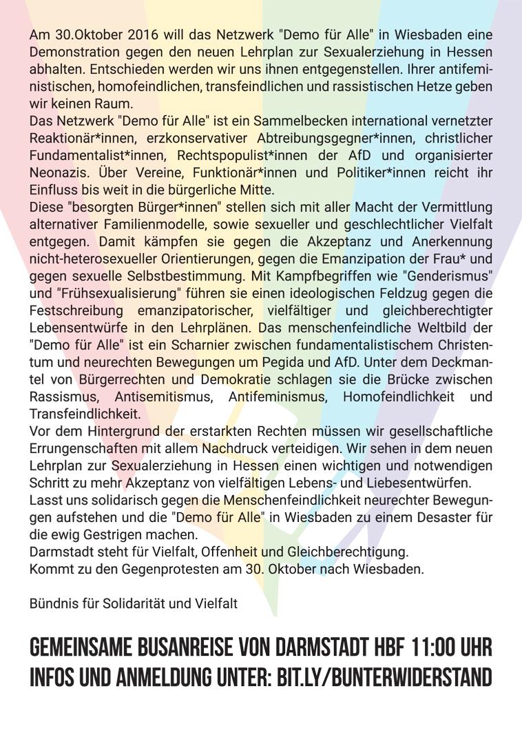 """""""Demo für Alle"""" in Wiesbaden"""